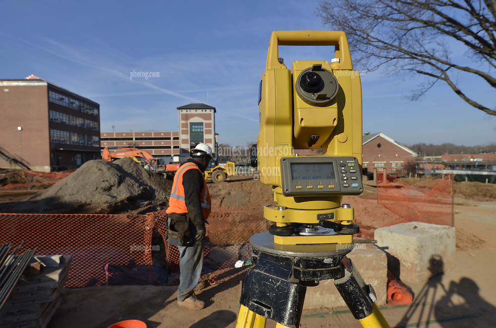 Topcon GTS-235W Total Surveying Station in use on location at CCSU New Academic - Office Building. CT-DCS Project No: BI-RC-324. Architect: Burt Hill Kosar Rittelmann Associates. Contractor: Gilbane, Inc..
