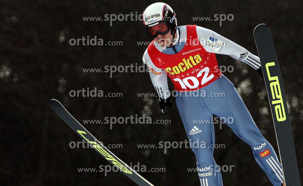 Jernej Damjan of SSK Costella Ilirija at Slovenian National Championship in Ski Jumping on February 12, 2008 in Kranj, Slovenia . (Photo by Vid Ponikvar / Sportal Images).