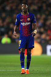 Ousmane Dembele of Barcelona - Mandatory by-line: Matt McNulty/JMP - 14/03/2018 - FOOTBALL - Camp Nou - Barcelona, Catalonia - Barcelona v Chelsea - UEFA Champions League - Round of 16 Second Leg