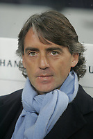 """PORTUGAL - PORTO 23 FEBRUARY 2005: Inter FC coach ROBERTO MANCINI, First Knock-out Round First Leg of the UEFA Champions League, match FC Porto (1) vs FC Internazionale (1), held in """"Dragao"""" stadium  23/02/2005  19:17:19<br />(PHOTO BY: NUNO ALEGRIA/AFCD)<br /><br />PORTUGAL OUT, PARTNER COUNTRY ONLY, ARCHIVE OUT, EDITORIAL USE ONLY, CREDIT LINE IS MANDATORY AFCD-PHOTO AGENCY 2004 © ALL RIGHTS RESERVED"""