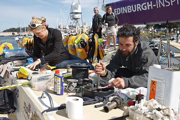 2009-10 Clipper Round the World Race, Jodie Douglas and Gavin Kelly