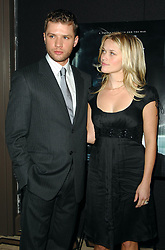 """""""Actress Reese Witherspoon accompanies husband actor Ryan Phillippe to The Cinema Society & Zenith Watches screening of """"""""Flags Of Our Fathers"""""""" held at the Tribeca Grand screening room on Monday, on October 16, 2006  in New York, USA. Photo by Gregorio Binuya/ABACAPRESS.COM"""""""