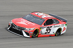 March 1, 2019 - Las Vegas, NV, U.S. - LAS VEGAS, NV - MARCH 01: Matt DiBenedetto (95) Leavine Family Racing Toyota Camry drives through turn four during practice for the Monster Energy NASCAR Cup Series 22nd Annual Pennzoil 400 on March 1, 2019, at the Las Vegas Motor Speedway in Las Vegas, Nevada. (Photo by Michael Allio/Icon Sportswire) (Credit Image: © Michael Allio/Icon SMI via ZUMA Press)