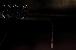 September 22, 2017 - Bergen, NORWAY - 170922 The breakaway group rides through a tunnel during the Men Under 23 Road Race on September 22, 2017 in Bergen..Photo: Vegard Wivestad GrÂ¿tt / BILDBYRN / kod VG / 170024 (Credit Image: © Vegard Wivestad Gr¯Tt/Bildbyran via ZUMA Wire)