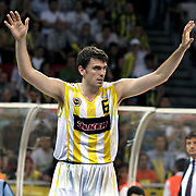 Fenerbahce Ulker's Mirsad TURKCAN during their Turkish Basketball league Play Off Final fourth leg match Fenerbahce Ulker between Efes Pilsen at the Abdi Ipekci Arena in Istanbul Turkey on Thursday 27 May 2010. Photo by Aykut AKICI/TURKPIX