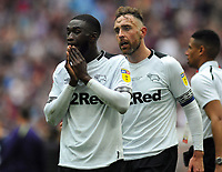 Football - 2018 / 2019 EFL Sky Bet Championship Play-Off Final - Aston Villa vs. Derby County<br /> <br /> Fikayo Tomori of Derby breaks down in tears,as Captain, Richard Keogh comes over to console him at the final whistle at Wembley Stadium.<br /> <br /> COLORSPORT/ANDREW COWIE
