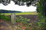 Nederland, Ubbergen, 19-6-2013Rondom en op de Duivelsberg. Grenspaal 634 op de huidige grens uit 1949.Foto: Flip Franssen