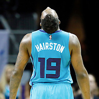 01 November 2015: Charlotte Hornets guard P.J. Hairston (19) reacts during the Atlanta Hawks 94-92 victory over the Charlotte Hornets, at the Time Warner Cable Arena, in Charlotte, North Carolina, USA.