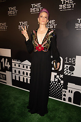 The Best FIFA Women's Player Award finalist Megan Rapinoe of Reign FC and United States attends the green carpet prior to The Best FIFA Football Awards 2019 at the Teatro Alla Scala on September 23, 2019 in Milan, Italy. Photo by David Niviere/ABACAPRESS.COM
