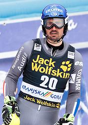 05.03.2017, Podkoren, Kranjska Gora, SLO, FIS Weltcup Ski Alpin, Kranjska Gora, Slalom, Herren, 2. Lauf, im Bild Jean-Baptiste Grange (FRA) // Jean-Baptiste Grange of France reacts after his 2nd run of men's Slalom of FIS ski alpine world cup at the Podkoren in Kranjska Gora, Slovenia on 2017/03/05. EXPA Pictures © 2017, PhotoCredit: EXPA/ Johann Groder