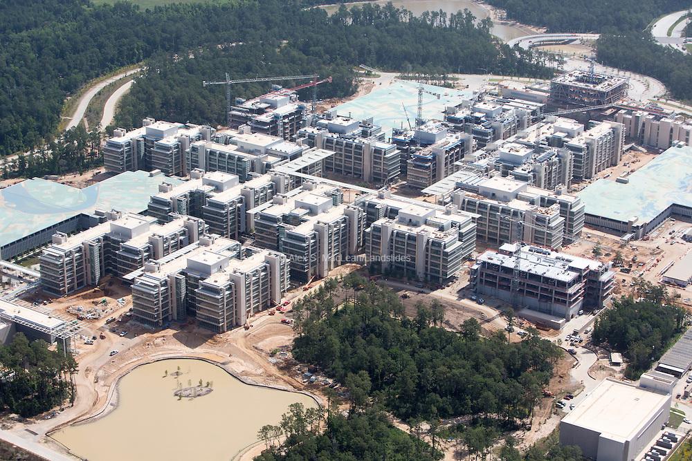 Construction of Exxon headquarters outside of Houston, TX