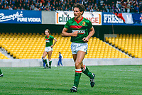 Jim Cowden, footballer, Glentoran FC, Belfast, N Ireland, UK, 19850811002.<br /> <br /> Copyright Image from Victor Patterson, Belfast, UK<br /> <br /> t: +44 28 9066 1296 (from Rep of Ireland 048 9066 1296)<br /> m: +44 7802 353836<br /> e: victorpattersonbelfast@gmail.com<br /> <br /> www.images4media.com<br /> <br /> Please see my full Terms and Conditions of Use at https://www.images4media.com/p/terms-conditions - it is IMPORTANT that you familiarise yourself with them.<br /> <br /> Images used online incur an additional cost. This cost should be agreed in writing in advance. Online images must be visibly watermarked i.e. © Victor Patterson or that of the named photographer within the body of the image. The original metadata must not be deleted from images used online.<br /> <br /> This image is only available for the use of the download recipient i.e. television station, newspaper, magazine, book publisher, etc, and must not be passed on to a third party. It is also downloaded on condition that each and every usage is notified within 7 days to victorpattersonbelfast@gmail.com.<br /> <br /> The right of Victor Patterson (or the named photographer) to be identified as the author is asserted in accordance with The Copyright Designs And Patents Act (1988). All moral rights are asserted.