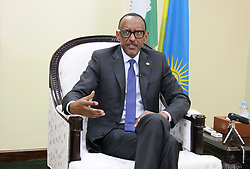 KIGALI, July 23, 2018  Rwandan President Paul Kagame speaks during an interview with Chinese media in Kigali, Rwanda, July 17, 2018. The Rwanda-China relationship has grown stronger and the China-proposed Belt and Road Initiative has promoted development worldwide, including Africa, and achieved win-win outcomes, Rwandan President Paul Kagame said in the interview.  gj) (Credit Image: © Lu Tianran/Xinhua via ZUMA Wire)