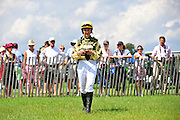 24  March, 2012:  Danielle Hodsdon in the paddock at Aiken.