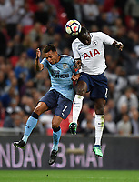 Football - 2017 / 2018 Premier League - Tottenham Hotspur vs. Newcastle United<br /> <br /> Tottenham Hotspur's Moussa Sissoko battles for possession with Newcastle United's Jacob Murphy, at Wembley Stadium.<br /> <br /> COLORSPORT/ASHLEY WESTERN