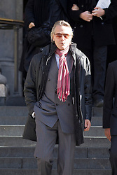 © Licensed to London News Pictures. 12/10/2012. LONDON, UK. Actor Jeremy Irons is seen leaving St Paul's Cathedral after a memorial service for hairdresser Vidal Sassoon in London today (12/10/12) . Photo credit: Matt Cetti-Roberts/LNP