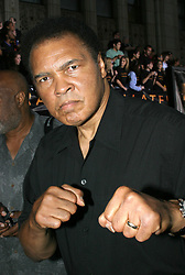 June 3, 2016 - File - MUHAMMAD ALI, the three time heavyweight boxing champion, has died at the age of 74. He had been fighting a respiratory illness. 'The Greatest' was the dominant heavyweight boxer of the 1960s and 1970s, Ali won an Olympic gold medal in Rome in 1960, captured the professional world heavyweight championship on three separate occasions, and successfully defended his title 19 times. PICTURED: Aug 02, 2004 - Los Angeles - Former Boxer Muhammad Ali at the 'Collateral' Los Angeles Premiere held at the Orpheum Theatre. (Credit Image: Rena Durham/ZUMAPRESS.com)