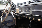 interior of an antique car