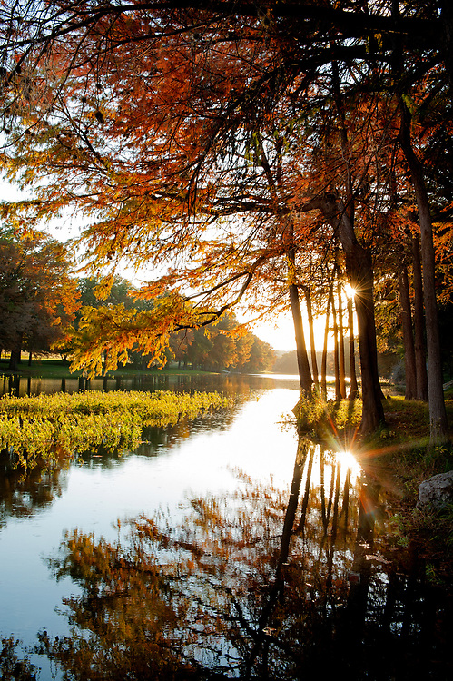 Autumn Along the Guadalupe River, Hunt, Texas