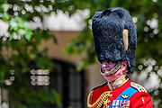 Prince Andrew returns down the Mall - His Royal Highness the Duke of York reviews the final rehearsal for the Trooping the Colour on Horseguards Parade and the Mall.