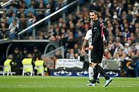 Paris Saint-Germain´s Zlatan Ibrahimovic during Champions League soccer match between Real Madrid  and Paris Saint Germain at Santiago Bernabeu stadium in Madrid, Spain. November 03, 2015. (ALTERPHOTOS/Victor Blanco)