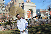 Apple fans use MACBOOK selfie sticks to snap pictures on the go - and the worst part is the people around them don't bat an eyelid<br /> <br /> Prepare for a major eye-roll: Three imaginative young men in New York have dreamed up — and created — an industrial-strength selfie stick, big enough to support an entire laptop.<br /> The Macbook Selfie Stick functions just like a smartphone selfie stick — except that it can fit a full-size Macbook computer in its grips.<br /> And while the invention will likely seem ridiculous to many, it's worth noting that so did the original selfie stick, once upon a time — and now the tech accessory has become so ubiquitous that theme parks and museums have been driven to ban them. <br /> <br /> However, early adopters can't exactly buy the photo-taking tool just yet — and in fact, there only seems to be a single prototype.<br /> Created by artists Moises or Art404, John Yuyi, and Tom Galle, the Macbook Selfie Stick is, at this stage, still just an art project.<br /> But while the trio may be trying to make some sort of statement about society — that our culture is too selfie-obsessed, self-obsessed, or tech-obsessed — it's quite possible that their plan will backfire. <br /> <br /> In a series of images posted online, the group and a few volunteers can be seen using the Macbook Selfie Stick out and about in Manhattan.<br /> They pose for pictures, their laptops held out on a pole several feet in front of them, in places like Times Square and Washington Square Park.<br /> In several of the snaps, crowds of tourists can be seen nearby, and many seem unfazed by the spectacle — sometimes too busy taking their own selfies to even notice.<br /> A few, though, look on with bemused expressions — even in Times Square, where strange and never-before-seen scenes are, actually, seen every day. <br /> <br /> Most people are probably quick to write off such a ridiculous idea — after all, carrying around a laptop and hoisting it up for a picture is 