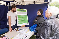 The opening of the Grange Community Hub, Haringey and High Road West consultation with Fun Day Tottenham, London Sep 2014. Under the proposals, all secure council tenants on the Love Lane Estate would be guaranteed a home in the new development. UK