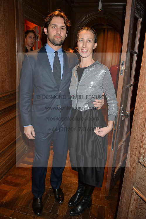 ***UK_MAGAZINES_OUT***<br /> LONDON, ENGLAND 30 NOVEMBER 2016: <br /> Left to right, Sebastian Ratto Viviani, Mac Patoulas at the launch of In The Spirit of Gstaad at Maison Assouline, Piccadilly, London hosted by Mandolyna Theodoracopulos and Homera Sahni England. 30 November 2016.