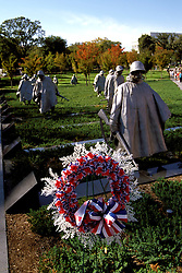 DC: Washington, DC Monuments, Korean War Veterans Memorial        .Photo Copyright Lee Foster, lee@fostertravel.com, www.fostertravel.com, (510) 549-2202.Image washdc218