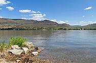 Osooyos Lake at Haynes Point Provincial Park, Osooyos, British Columbia, Canada