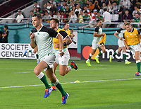 Rugby Union - 2019 Rugby World Cup - Pool A: Ireland vs. Russia<br /> <br /> Ireland's Johnny Sexton during the pre match warm up, at Kobe Misaki Stadium, Kobe City.<br /> <br /> COLORSPORT/ASHLEY WESTERN