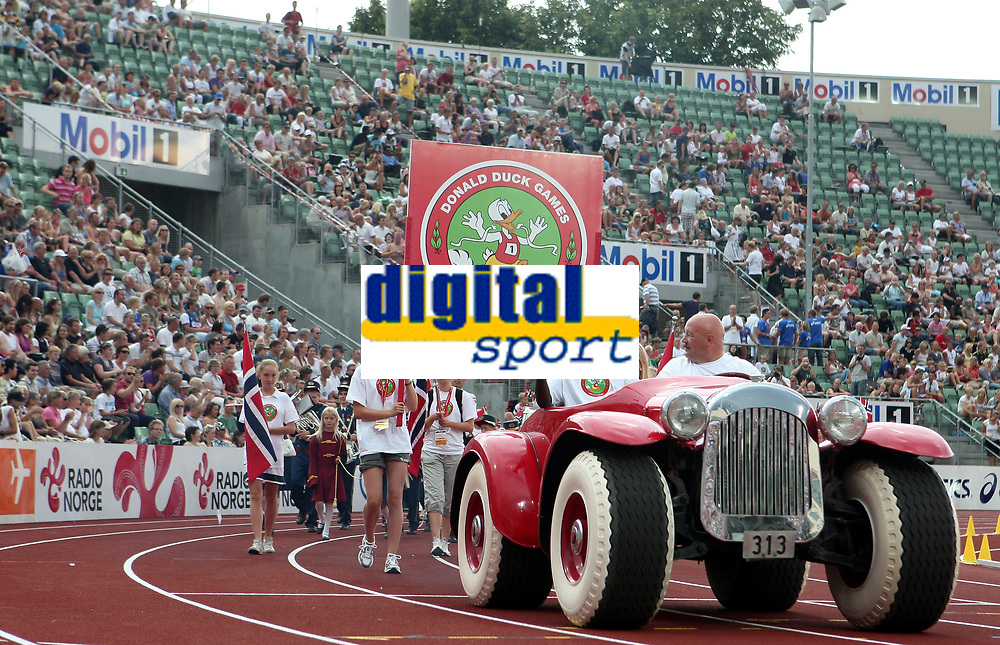 Friidrett , 3. juli 2009 , Golden League , Bislett Games , <br /> <br /> illustrasjon , Donald Duck lekene , Donal Duck-lekene