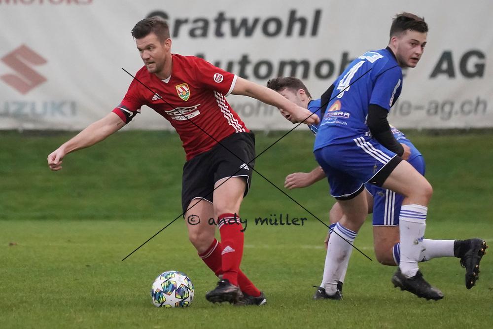 19.10.2019; Niederwil; Fussball 2.Liga - FC Niederwil - FC Sarmenstorf;<br /> Raphael Peterhans (Niederwil)  <br /> (Andy Mueller/freshfocus)