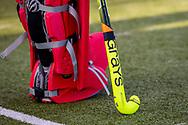 BILTHOVEN -  Hoofdklasse competitiewedstrijd dames, SCHC v hdm, seizoen 2020-2021.<br /> Foto: Stick Grays van keeper Marsha Zwezereijn (SCHC)