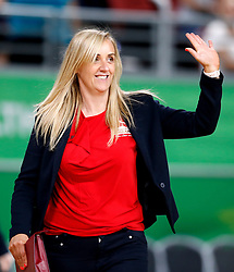 England's coach Tracey Neville acknowledges the crowd after their win against New Zealand in the netball at the Gold Coast Convention and Exhibition Centre during day seven of the 2018 Commonwealth Games in the Gold Coast, Australia.