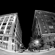 Washington Avenue at night, downtown St. Louis, MO.