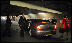 The Prime Minister David Cameron gets into his car at the Car Park of the Conference Centre after making his Speech to the Conservative Party Conference in Manchester,  UK, October 5, 2011. Photo By Andrew Parsons / i-Images.