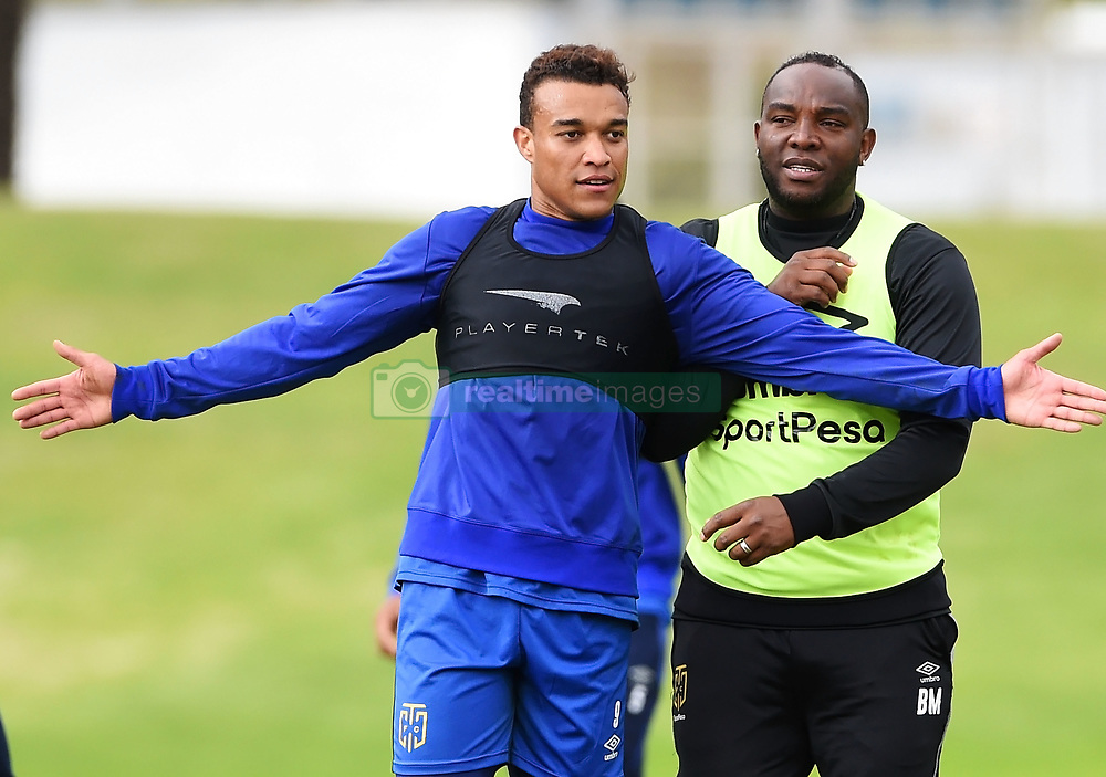 Cape Town-180801-Cape Town Coach Bennie McCarthy and striker Matthew Rusike at training session at Hartleyvale Stadium, ahead of their opening game of the 2018/2019 PSL season against Supersport United at Cape Town Stadium on saturday.Photograph:Phando Jikelo/African News Agency/ANA