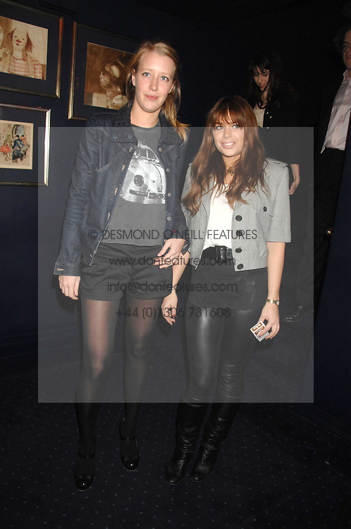 Left to right, ALICE ROTHSCHILD and WILLA KESWICK at a party to celebrate the publication of the 2007 Tatler Little Black Book held at Tramp, 40 Jermyn Street, London on 7th November 2007.<br /><br />NON EXCLUSIVE - WORLD RIGHTS