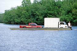 Ferrying Vehicles On San Jose Waterway