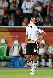 09-07-2011 VOETBAL: FIFA WOMENS WORLDCUP 2011 GERMANY - JAPAN: WOLFSBURG<br /> Celia Okoyino Da Mbabi (GER) nach der 1:0 Niederlage gegen Japan , Deutschland ist aus der WM ausgeschieden  <br /> ***NETHERLANDS ONLY***<br /> ©2011-FRH- NPH/Karina Hessland