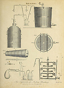 The Apparatus for Modern Bleaching Copperplate engraving From the Encyclopaedia Londinensis or, Universal dictionary of arts, sciences, and literature; Volume III;  Edited by Wilkes, John. Published in London in 1810