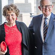 NLD/Katwijk/20170403 - 100ste geboortedag Erik Hazelhoff Roelfzema, Margriet en partner Mr. Pieter van Vollenhoven