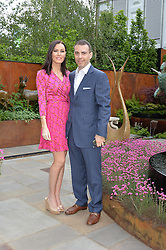 LINZI STOPPARD and WILL STOPPARD at the 2016 RHS Chelsea Flower Show, Royal Hospital Chelsea, London on 23rd May 2016