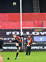 Rugby Union - 2019 / 2020 Guinness Pro14 - Ospreys vs. Southern Kings<br /> <br /> Scott van Breda of Southern Kings kicks a penalty, at The Liberty Stadium.<br /> <br /> COLORSPORT/WINSTON BYNORTH