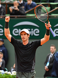 File photo - Andy Murray of Scotland plays his Men's singles first round match against Radek Stepanek of the Czech Republic on day three of the French Open at Roland Garros on May 24, 2016 in Paris, France. Andy Murray shocked the tennis world Friday morning in Melbourne when he announced his plans to retire this year during a tearful press conference ahead of the Australian Open. The former world No. 1 had hip surgery in January 2017 and says the pain has become too much to bear. Photo by Christian Liewig/ABACAPRESS.COM