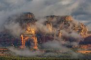Boynton Canyon, morning fog, Coconino National Forest, Sedona, Arizona,