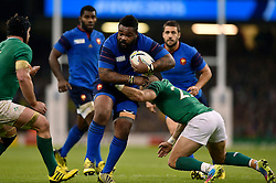 Mathieu Bastareaud of France takes on the Ireland defence - Mandatory byline: Patrick Khachfe/JMP - 07966 386802 - 11/10/2015 - RUGBY UNION - Millennium Stadium - Cardiff, Wales - France v Ireland - Rugby World Cup 2015 Pool D.