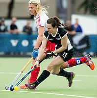 BREDA (Neth.)  Moley Rawsley (l) of England with Kelsey Smith (r) of NZ  during the match  New Zealand vs England U21 women . Volvo Invitational Tournament U21. COPYRIGHT KOEN SUYK