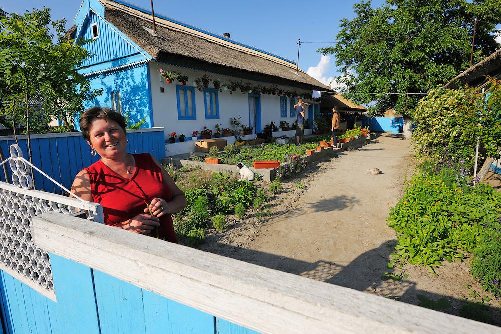 Tourism in the delta, guesthouse owner, Danube delta rewilding area, Romania